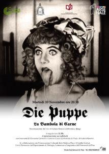 """10 novembre 2015 – """"Die Puppe"""" (La bambola di carne) di Ernst Lubitsch, sonorizzato dal vivo da Letizia Renzini"""